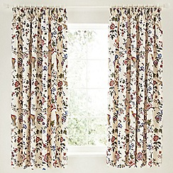 V & A - Multicoloured 'Birds of Paradise' curtains