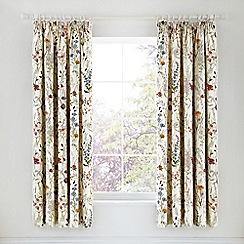 V & A - Multicoloured cotton sateen 'Blythe Meadow' curtains