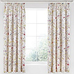 V & A - Multicoloured cotton sateen 'Botanica' curtains