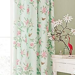 V & A - Aqua 'Chinoiserie' curtains