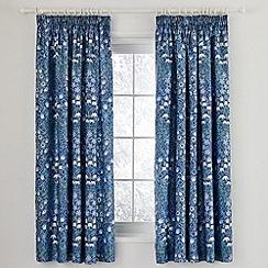 V&A - Blue 'Columbine' curtains
