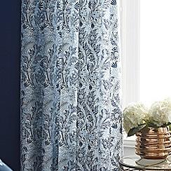 V & A - Blue 'Dianthus' curtain