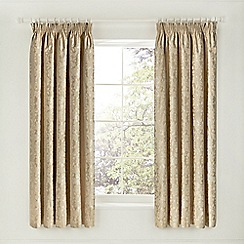Helena Springfield - light gold 'Flora' curtains
