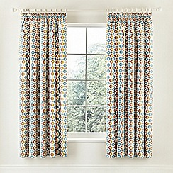 V & A - multicoloured 'Pompeii' curtains