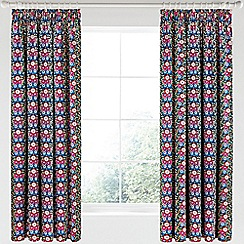 V & A - Multicoloured cotton sateen 'Primula' curtains