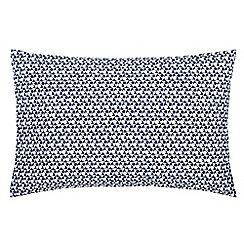 V & A - White patterned 'Alhambra' pillow case pair