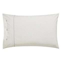 Fable - Beige cotton percale 300 thread count 'Amirah' Standard pillow case