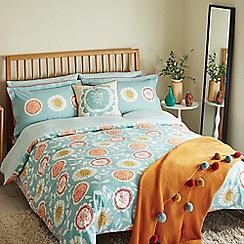 Scion - Blue patterned 'Anneke' duvet cover