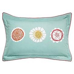 Scion - Blue patterned 'Anneke' Oxford pillow case