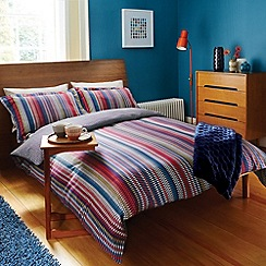 Harlequin - Multicoloured 'Array' stripe bed linen