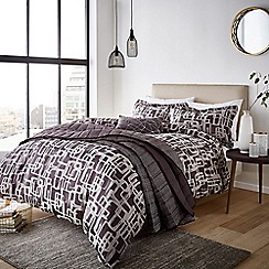 Harlequin - Plum viscose and polyester 'Asuka' duvet cover