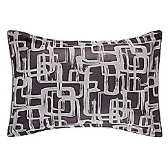 Harlequin - Plum viscose and polyester 'Asuka' Oxford pillow case