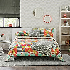 Scion - Multicoloured patterned 'Axis' duvet cover