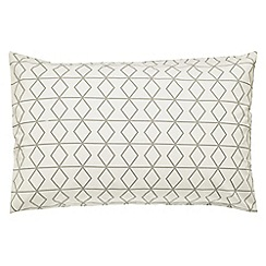 Scion - White patterned 'Axis' pillow case pair