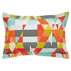 Scion - Multicoloured patterned 'Axis' Oxford pillow case