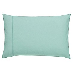 Clarissa Hulse - Turquoise cotton percale 200 thread count 'Backing Cloth' Standard pillow case