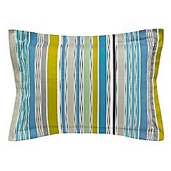 Harlequin - Multicoloured 'Bahia' oxford pillowcase