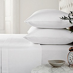 Helena Springfield - White 'brushed cotton' bed sheets