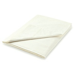 Hotel - Ivory Egyptian cotton percale 300 thread count 'Bexley' flat sheet