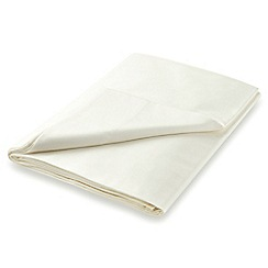 Hotel - Ivory Egyptian cotton sateen 600 thread count 'Bexley' flat sheet