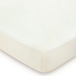 Hotel - Ivory Egyptain cotton sateen 600 thread count 'Bexley' fitted sheet