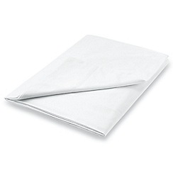 Hotel - White Egyptian cotton percale 300 thread count 'Bexley' flat sheet