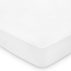 Hotel - White Egyptian cotton percale 300 thread count 'Bexley' fitted sheet