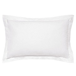 Hotel - White Egyptian cotton percale 300 thread count 'Bexley' Oxford pillow case