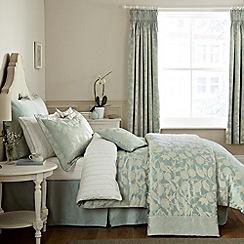 Sanderson - Aqua 'Bird Blossom' bed linen