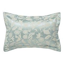 Sanderson - Aqua 'Bird Blossom' oxford pillowcase