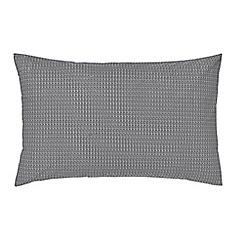 Harlequin - Dark grey cotton percale 180 thread count 'Blaze' Standard pillow cases