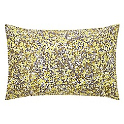 Clarissa Hulse - yellow 'Boston Ivy' standard pillowcase