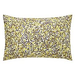 Clarissa Hulse - yellow 'Boston Ivy' standard pillowcase