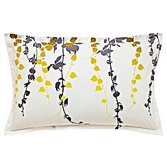 Clarissa Hulse - yellow 'Boston Ivy' oxford pillowcase