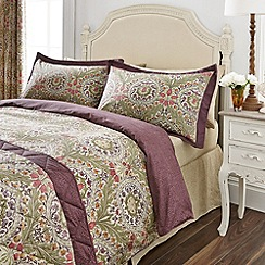 V & A - Purple 'Brocatelle' bed linen