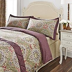 V & A - Purple 'Brocatelle' bed linen