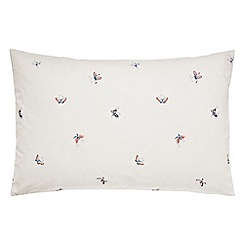 V & A - Multicoloured 'Butterfly Garden' standard pillowcase