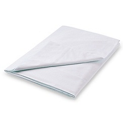 Hotel - Silver Egyptian cotton percale 'Cadogan' flat sheet