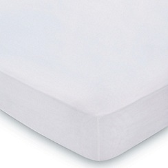 Hotel - Silver Egyptian cotton percale 'Cadogan' fitted sheet