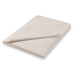 Hotel - Natural Egyptian cotton percale 'Cadogan' flat sheet
