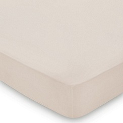 Hotel - Natural Egyptian cotton percale 'Cadogan' fitted sheet