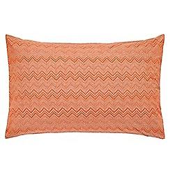 Harlequin - Orange patterned 'Chevron' pillow case pair