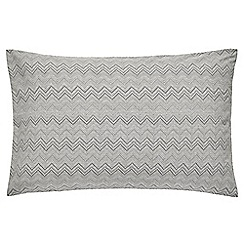 Harlequin - Grey patterned 'Chevron' pillow case pair