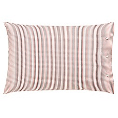 Peacock Blue Loft Collection - Red 'Carter' standard pillowcase