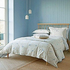 Sanderson - Light blue printed 'Dawn Chorus' duvet cover