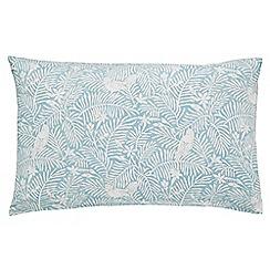Sanderson - Light blue 'Dawn Chorus' standard pillowcase