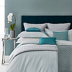 Hotel - Aqua cotton sateen 300 thread count 'Deauville' duvet cover
