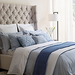 Fable - Light blue 'Darcy Stripe' bed linen