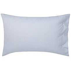 Fable - Light blue 'Darcy Stripe' standard pillowcase