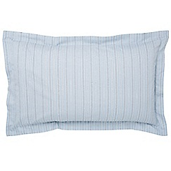 Fable - Light blue 300 thread count 'Darcy Stripe' Oxford pillow case